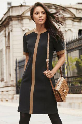 Buy Black Colourblock Dress from the Next UK online shop