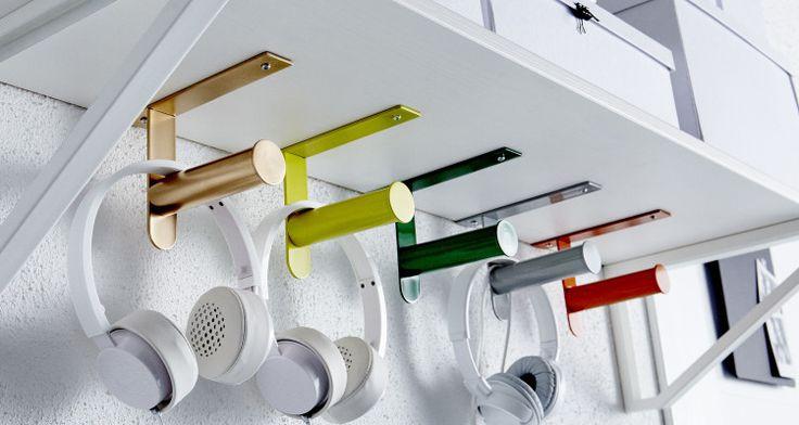 GRUNDTAL toilet roll holder as headphone holders £4.90 IKEA Belfast