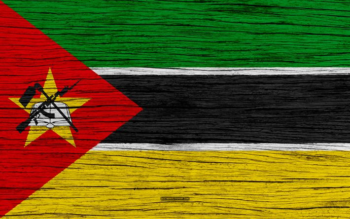 Download wallpapers Flag of Mozambique, 4k, Africa, wooden texture, Mozambicanflag, national symbols, Mozambique flag, art, Mozambique