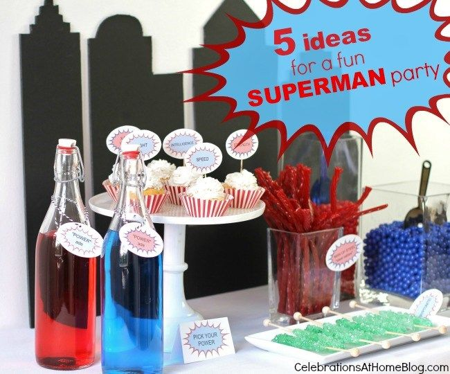 5 SIMPLE IDEAS FOR A FUN SUPERMAN PARTY: Themed Birthday Parties, Theme Birthday, Birthday Superhero, Parties Birthday