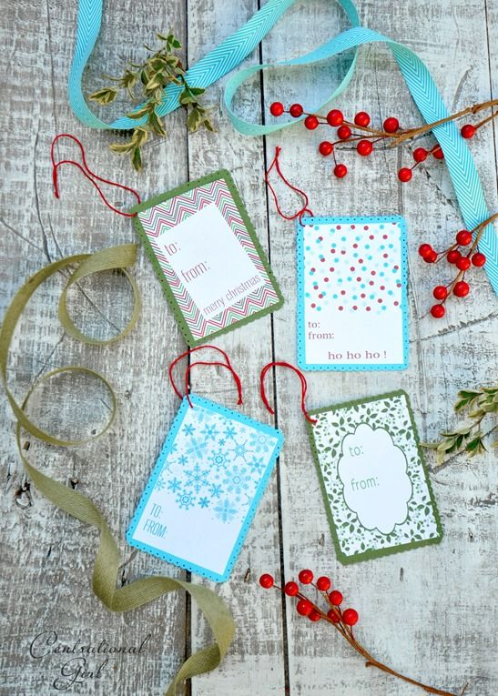 printable holiday gift tags for free!  Thanks @Centsational Girl