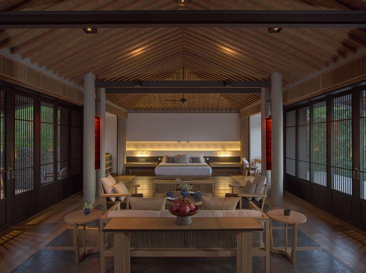 Bedroom suite at the Amanoi Resort in Phang Rang City, Vietnam designed by Jean-Michel Gathy