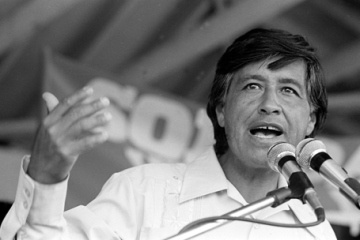 """-Why is """"Cesar Chavez"""" day a national holiday?   - Why do people not want to celebrate Cesar Chavez?   Cesar Chavez Speaks At Rally"""