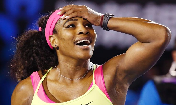 Serena Williams claimed her 16th straight victory over Maria Sharapova, winning 6-3, 7-6, to secure her 19th grand slam title and sixth in Australia  Serena Williams reacts after winning her sixth Australian Open title. Photograph: Made Nagi/EPA
