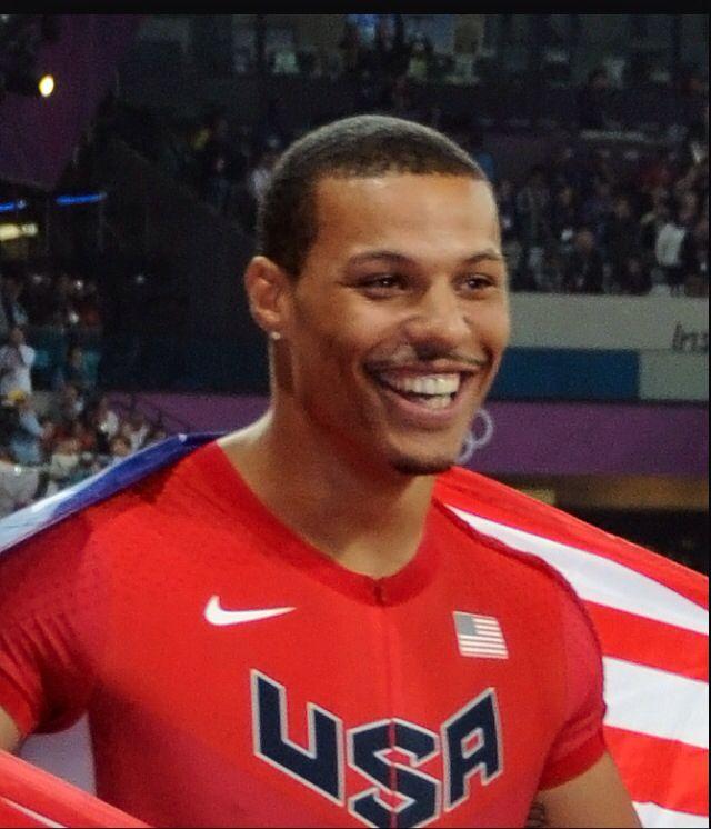 London Olympic silver medalist Ryan Bailey. God he's gorgeous!