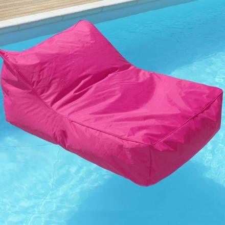 Pouf fauteuil fuchsia pour piscine