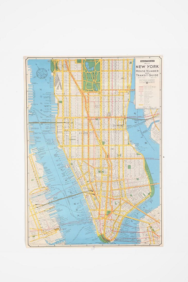 New York City Map Poster: Wall Art, Urban Outfitters, New York Cities, Vintage Maps, Cities Maps, Honeymoons Places, New York City, New York Maps, Maps Posters