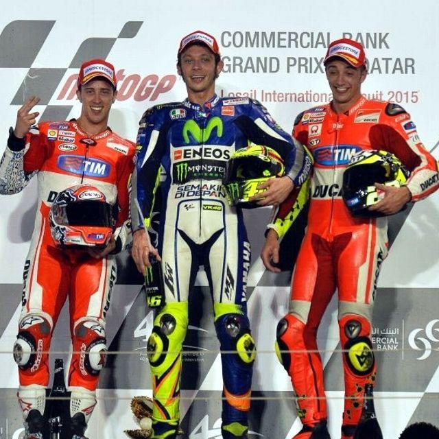Andrea #Dovizioso, Valentino #Rossi e Andrea #Iannone podio tutto italiano in #Qatar