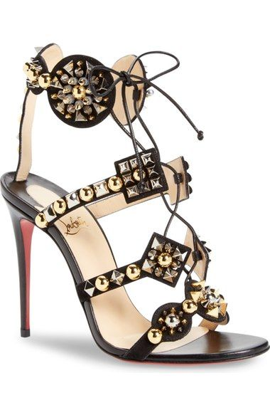 Christian Louboutin Kaleikita Lace-Up Sandal available at #Nordstrom