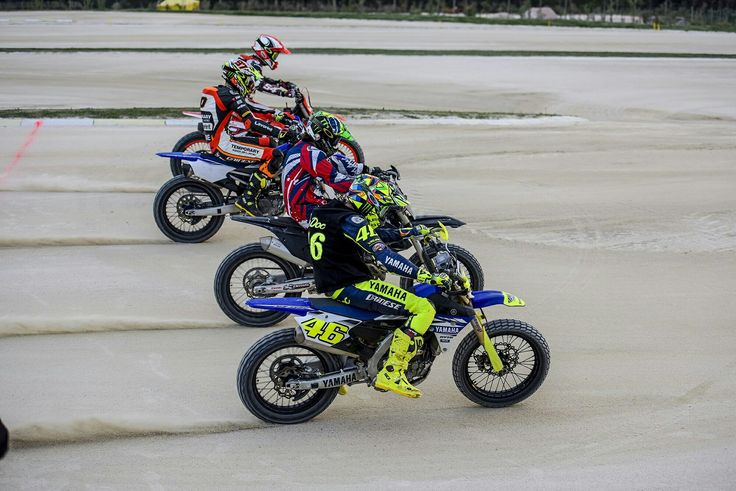 Vale, Mattia Pasini, Luca Marini & Franco Morbidelli at MotoRanch Tavullia
