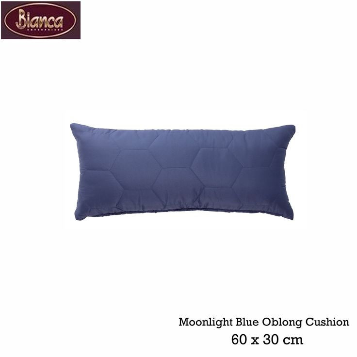 Vivid Coordinates Moonlight Blue Oblong Cushion by Bianca