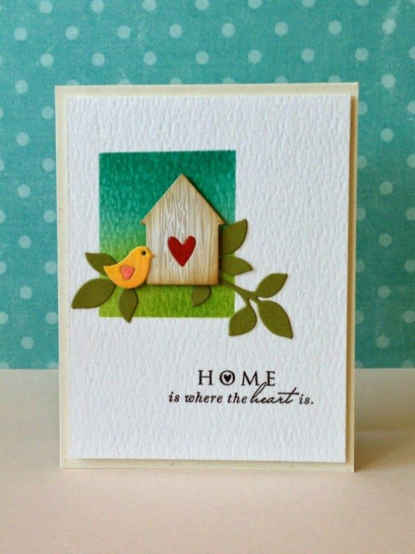 HOME is Where the Heart Is housewarming card by Donna Mikasa