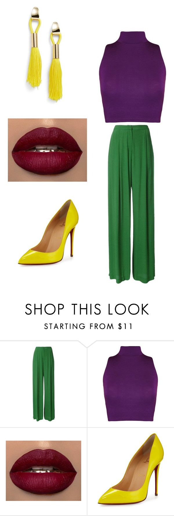 """""""outfit tetrada"""" by marcela-nor on Polyvore featuring moda, Bianca Spender, WearAll, Christian Louboutin y Topshop"""