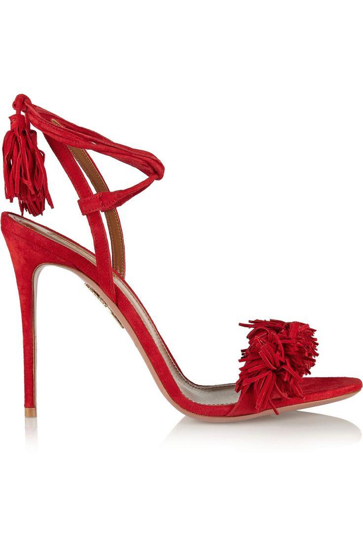 Aquazzura|Wild Thing fringed suede sandals