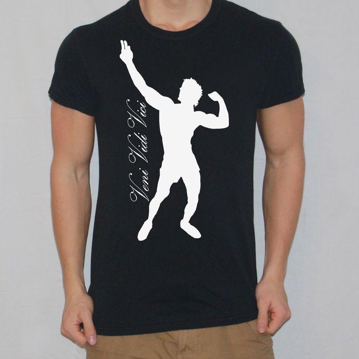 Zyzz Veni Vidi Vici T-shirt designed by Ripped Generation! #Zyzz #RippedGeneration #GymWear #GymApparel #VeniVidiVici