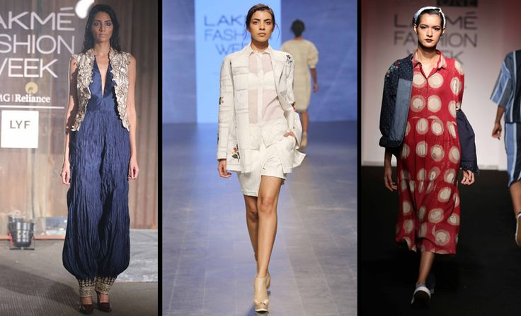 (L-R) Designs by Anand Kabra, Sahil Kochhar and Doodlage at LFW S/R 2016