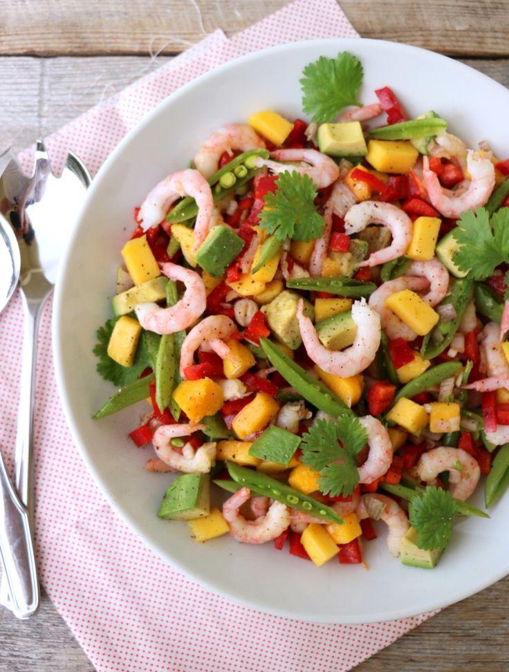 Skalldyrsalat med mango og avokado - LINDASTUHAUG
