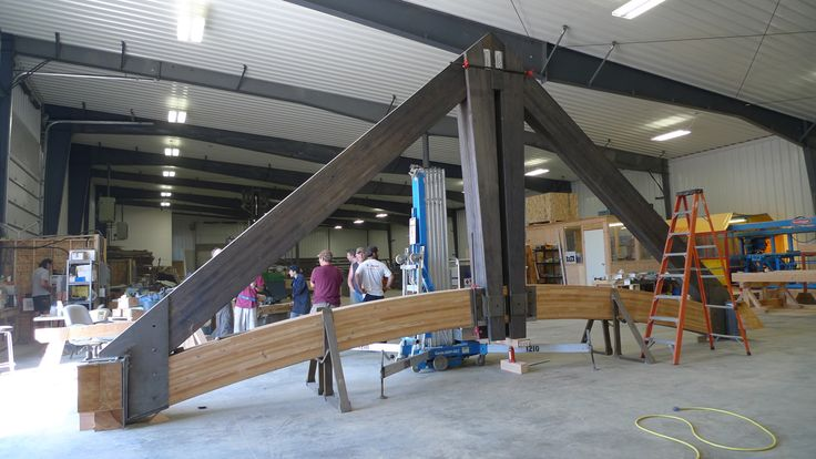 30 Span Truss Assembling In Our Shop Daizen Joinery