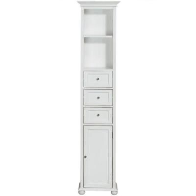 Home Decorators Collection 15 in. W Linen Cabinet in White-3987010410 at The Home Depot. $159.00