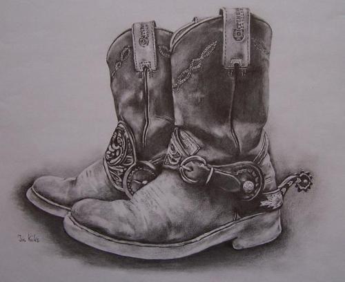 Cowboy Boots Pencil Art Drawings Pyrography Patterns