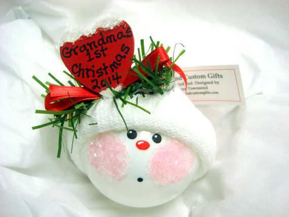 Homemade Christmas Ornaments For Babies : Best images about baby christmas ornaments on