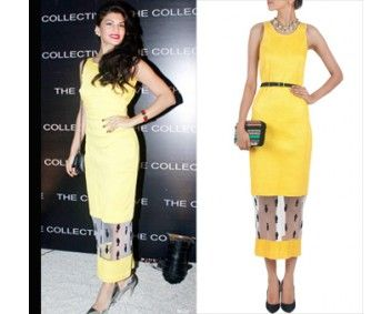 Jacqueline Fernandes in Nikhil Thampi #perniaspopupshop #shopnow #celebritycloset #designer #clothing #accessories