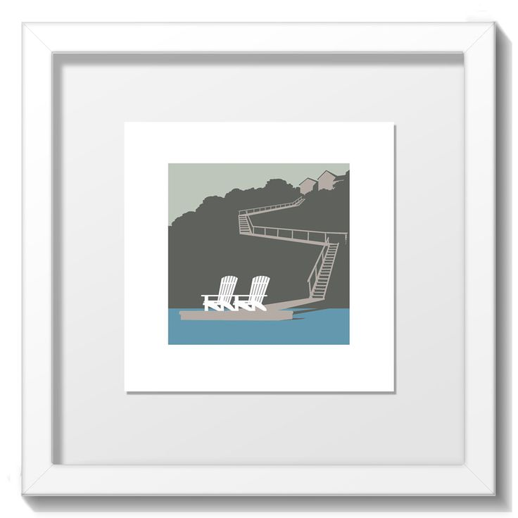 """Limited Edition Screenprint by Mat Brady from the """"Home"""" range. Print size 94mm x 94mm on paper stock 148mm x 148mm Final Framed size 20cm x 20cm. White frame only. http://www.yippeei.com/shop/home-prints/home-mat-brady"""