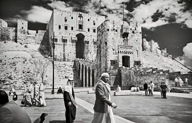 A medieval hilltop citadel in Aleppo