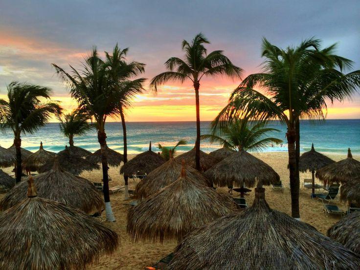 Sunset at Aruba Beach Club