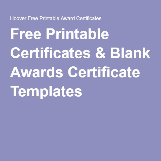 Free Printable Certificates & Blank Awards Certificate Templates