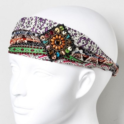 Mixed Tribal Print HeadwrapBeads Prints, Cat Accessories, Appliques Headbands, Fabrics, Prints Headwrap, Hair Stuff, Beads Appliques, Tribal Prints, Headbands Products