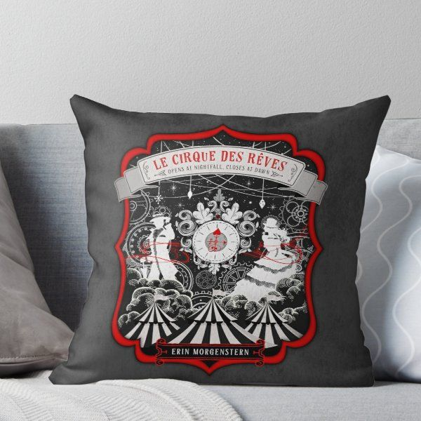 The Night Circus Throw Pillow By Stella Bookish Art In 2020 Night Circus Throw Pillows Circus