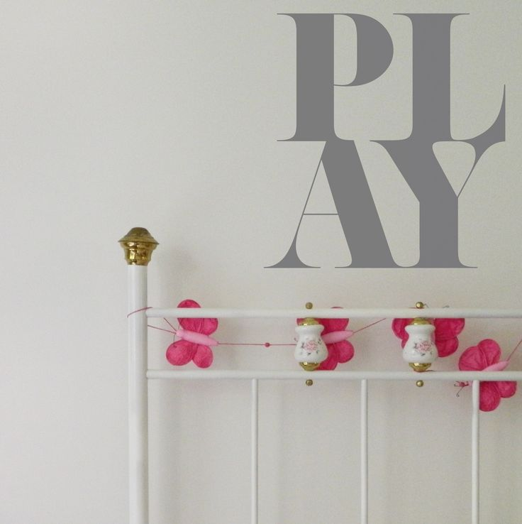 This wall sticker quote is designed for kid's bedrooms but why not use it anywhere in the house? We all love to play! #wallsticker #playroom #decor #kidsroom