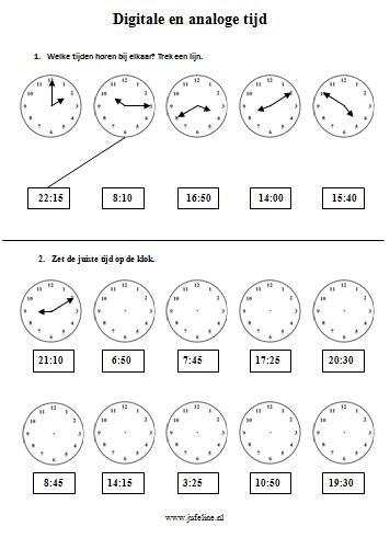 Rekenen Middenbouw, juf Eline: werkbladen klok, Romeinse cijfers, geld, etc.