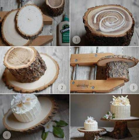 DYI-rustique gâteau support