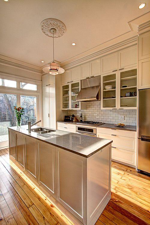 34 best brownstone design decor images on pinterest for Brownstone kitchen ideas