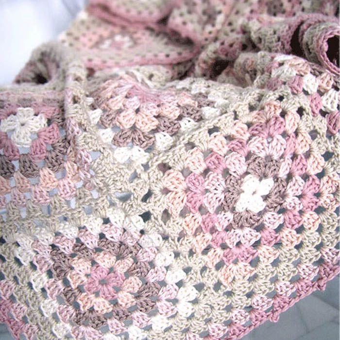 Diy manta granny square c mo hacer un cuadrado a crochet - Como hacer mantas de ganchillo ...