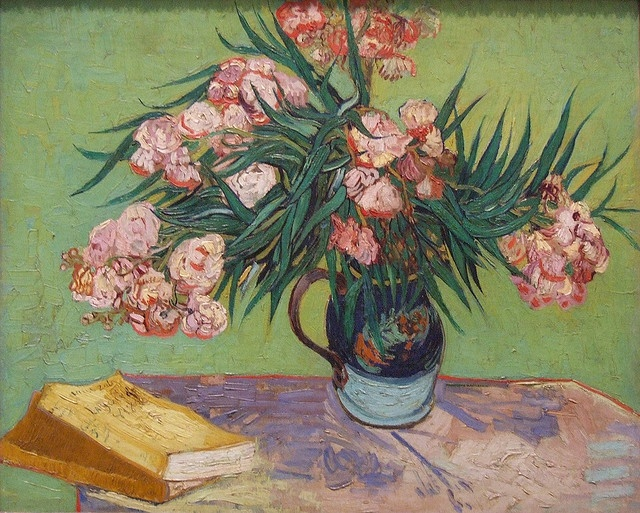 Saw a special Van Gogh Alive exhibit today.. it was wonderful >>oleanders, Vincent van Gogh
