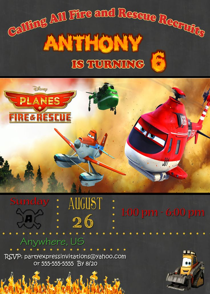 75 best Disney Planes Fire and Rescue Birthday Invitations and ...