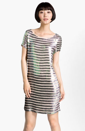 French Connection 'Fast Eden' Sequin Gauze Shift Dress | Nordstrom