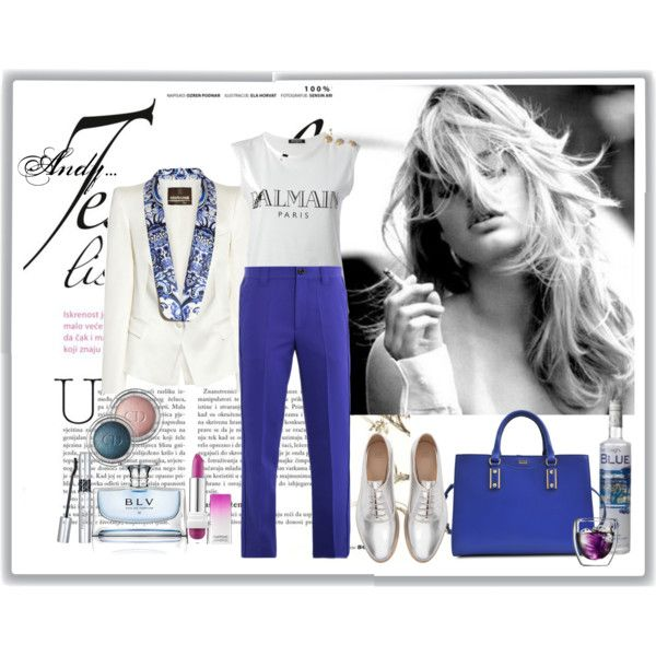 """""""Blue and silver..perfect match!!!"""" by andyts on Polyvore"""