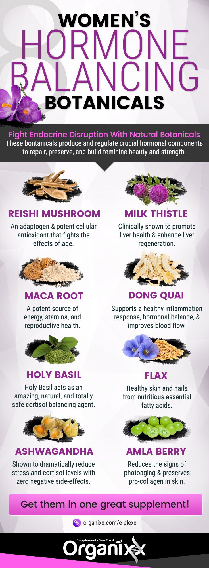 "HORMONE BALANCE: Wondering what you can to protect yourself from things that can disrupt your hormones or get them ""out of whack""? Click on the infographic above to learn how to support the proper balance of your hormones and 8 harmful endocrine disruptors that confuse the body. 
