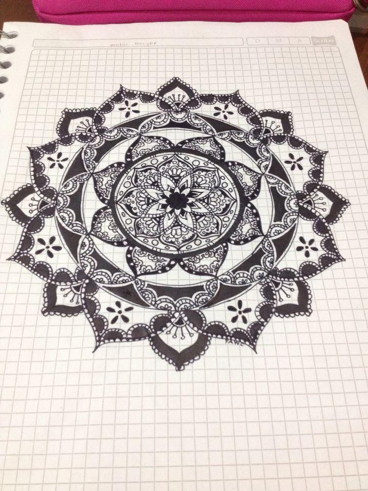 #doodles #flower #mandalas #blackandwhite #black