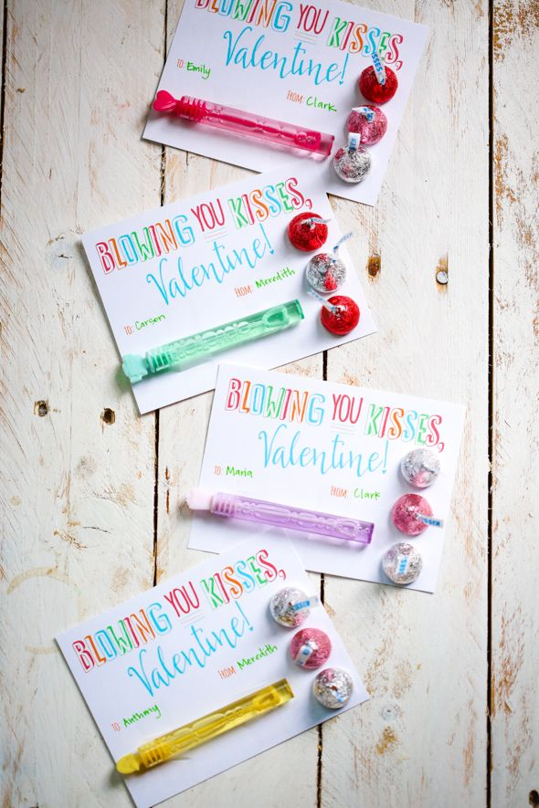 SUPER cute + simple Valentine! Could use Blow Pops, if bubbles aren't available (printable card) // our best bites