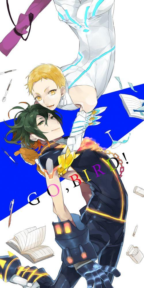 Tags: Anime, Wavy Hair, Monmonji, Two-tone Hair, Gatchaman Crowds, Hibiki Joe, Tachibana Sugane