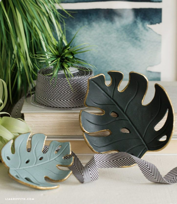 Make a simple DIY monstera drop dish for your home – jill groff