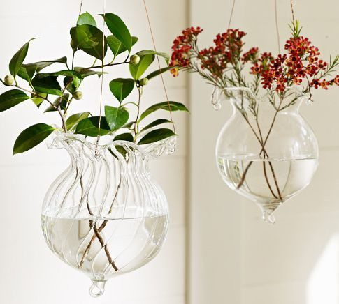 Wedding Home Decoration Hang Ceramic Flower Crystal Glass Vase Terrarium Vases Free Shipping