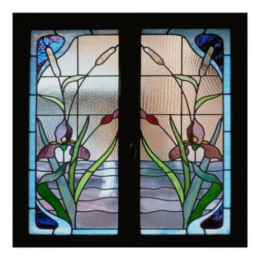 Window Glass: Art Deco Stained Glass Window