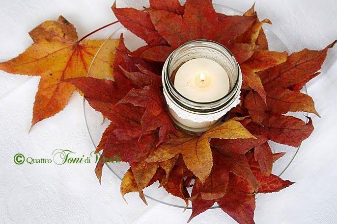 Risultati immagini per addobbi tavola foglie acero