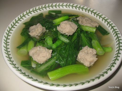 Welcome to Tevy's Kitchen: Chinese Green soup with meatballs